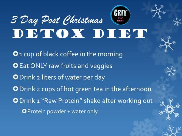 3 Day Post Christmas DETOX Diet