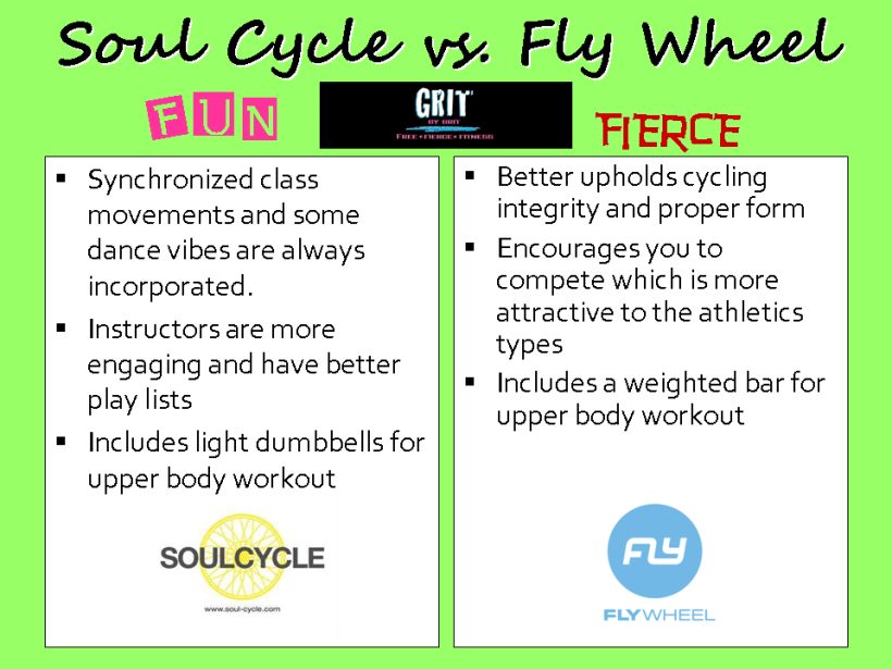 Soul Cycle vs Flyweel