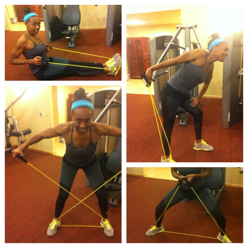 resistance band workout demos