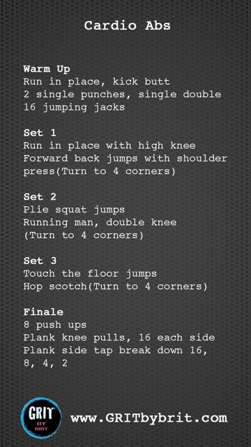 GRIT by Brit cardio abs