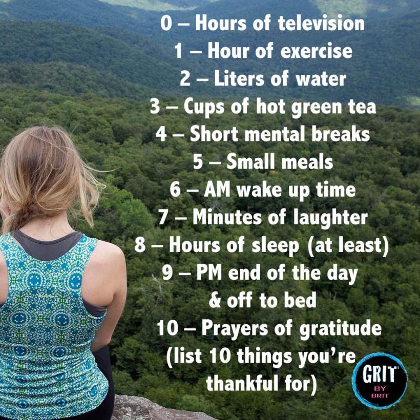 10 healthy habits