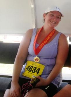 Blake after completing a Half Marathon in Dallas last month