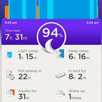 jawbone sleep patterns