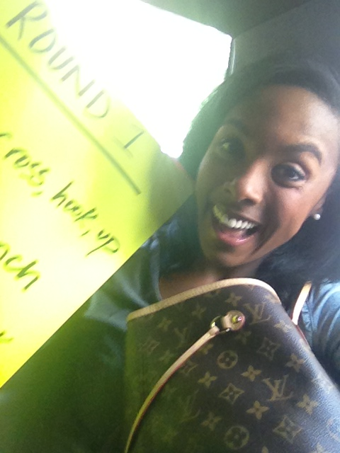 Headed to the studio with my cue cards in hand!