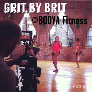 On shoot day with Booya Fitness - September 2013