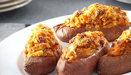 apple pecan stuffed sweet potatoes 4