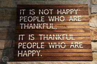 thankful happiness